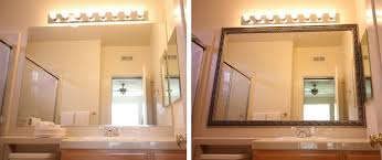 Frame Bathroom Mirror Kit Diy Bathroom Mirror Frame Kit Bathroom Mirrors Ideas