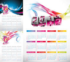 2012 calendar posters vector vector graphics blog