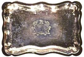 engraved tray antique silverplate engraved tray omero home
