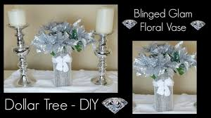 Pinterest Dollar Tree Crafts by Diy Dollar Tree Christmas Bling Vase Glam Home Decor Centerpiece
