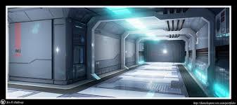 artstation sci fi hallway daniel squire