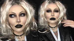bride of chucky halloween makeup tutorial pt 1 youtube