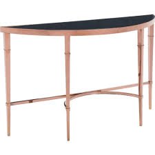 Console Bar Table by Zuo Modern 100348 Elite Console Table In Polished Rose Gold W