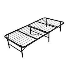 Slat Frame Bed Detachable Size Slat Metal Platform Bed Frame Bedroom Black
