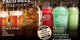 taco bell begins selling beer wine and booze at chicago location