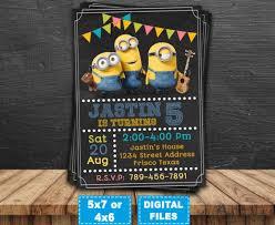 minions invitation minions printable minion birthday invitations