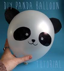 the diy fox diy panda balloon tutorial lovely panda crafts
