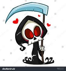 vector cartoon illustration spooky halloween death stock vector