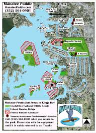 Florida Rivers Map by King U0027s Bay Map U2014 Paddleboard Kayak And Swim With A Manatee In