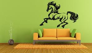 wall decals stickers home decor home furniture diy wall vinyl sticker room decals mural design horse animal running bo1218