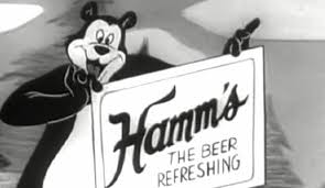 cartoon beer black and white hamm u0027s beer commercial