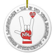 deaf sign language ornaments keepsake ornaments zazzle