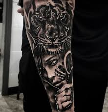 the 25 best tiger forearm tattoo ideas on pinterest tiger