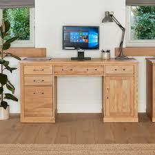 Pedestal Computer Desk Mobel Oak Pedestal Computer Desk Wooden Furniture Store