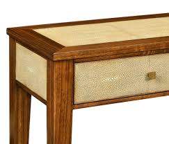 Shagreen Console Table by Ivory Shagreen Console Table With Drawers
