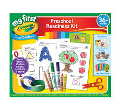my first crayola preschool readiness kit all in one art tools