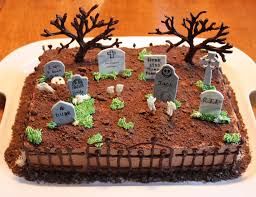 cemetery cake chocolate trees and fence gum paste grave s