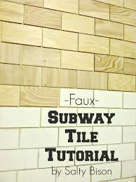 Faux by Faux Subway Tile Tutorial