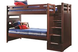 Kids Furniture Rooms To Go by Varsity Cherry Twin Twin Bunk Bed W Stairway Kids Room