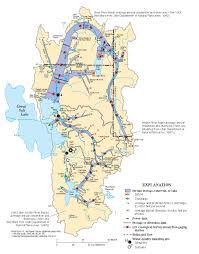 Great Basin Usa Map by Watershed Description Great Salt Lake Information System
