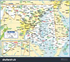 Maryland Counties Map Maryland State Map Stock Vector 88090024 Shutterstock