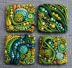 Ceramic Tiles For Crafts Texture Sculpey Jewelry Rhythm Repetition Pattern Polymer
