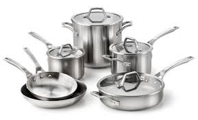 Calphalon Stainless Steel Toaster Calphalon Accucore Stainless Steel Cookware Set 10 Piece