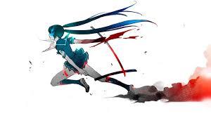 vocaloid rock shooter hatsune miku anime desktop wallpaper