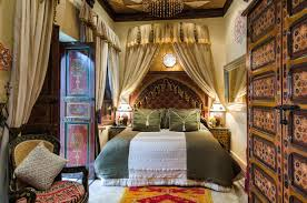 bedroom best moroccan bedroom with huge floral pattern bed and