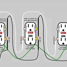 winsome wiring multiple gfci outlets as well as wiring diagram