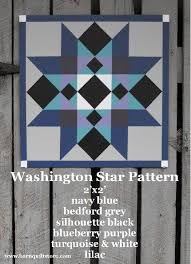 barn quilt patterns painted wood barn quilt washington star