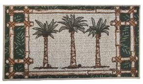 palm tree oasis kitchen rug laundry room mat tropical decor