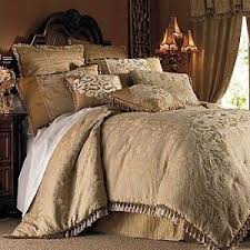 jc penney chris madden gold damask 9pc king comforter bedding set