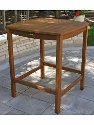 Eucalyptus Outdoor Table by Bar Height Table Outdoor Bar Table Eucalyptus Patio Bar Table