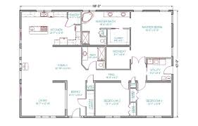 One Story Open Floor Plans by 43 Simple Open Ranch Floor Plans Ranch House Open Floor Plans