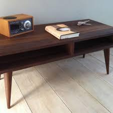 mid century coffee table legs mid century modern coffee table black walnut with tapered wood legs