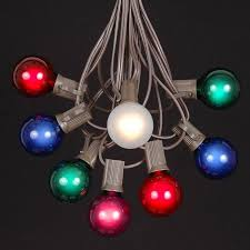 globe string lights brown wire multi colored g40 globe round outdoor string light set on brown wire
