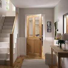 wickes doors internal glass bury two light four panel glazed oak doors category door