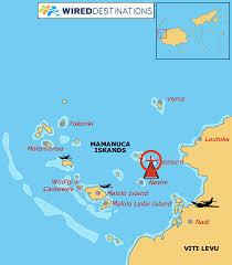 fiji resort map location map for treasure island resort in fiji mamanucas