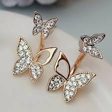 korean earings manufacturers selling hanging butterfly earrings two wear fashion