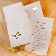 tri fold wedding invitations ivory butterfly deco tri fold affordable wedding