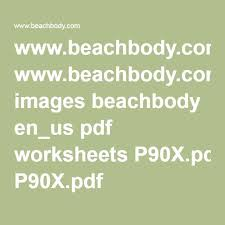 beachbody p90x worksheets images reverse search