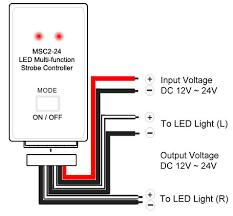 msc2 24w led multi function strobe controller led strobe