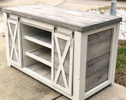 Rustic Tv Console Table Rustic Tv Stand Etsy
