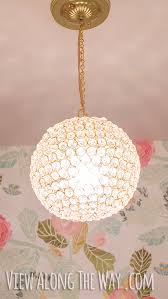 Easy Chandelier Diy Crystal Ball Chandelier View Along The Way
