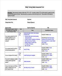 training assessment form free u0026 premium templatestraining needs