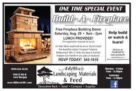 build fireplace ad miller u0027s landscaping materials u0026 feed