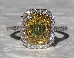 canary engagement ring canary yellow ceylon sapphire halo engagement ring yellow