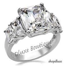 surgical steel band stainless steel cubic zirconia engagement rings ebay