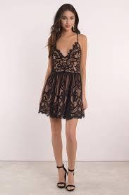 black dress strappy back dress pretty black dress skater